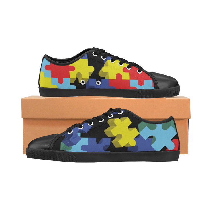 Autism Awareness Pieces Women's Canvas Shoes