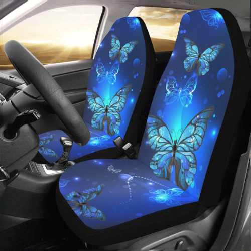 Shining Blue Butterflies Car Seat Covers Set Of 2 Brave New Look