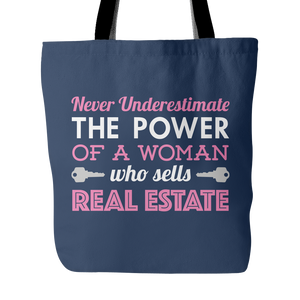 Never Underestimate Real Estate Tote Bag
