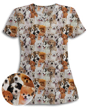 Dog Pile Athletic Scrub Top