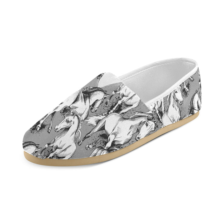 Galloping Horses - Grey Women's Canvas Shoes