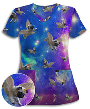 Galactic Pugs Athletic Scrub Top