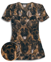 German Shepherds on Shepherds on Shepherds Athletic Scrub Top