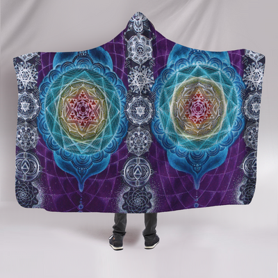 Psychedelic Chakras Hooded Blanket
