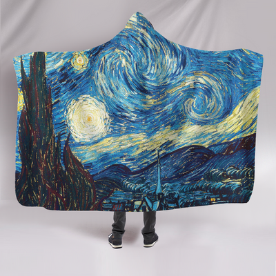 Van Goes Hard On A Starry Night Hooded Blanket