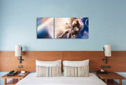 16x20 - Astronaut Falling Up Canvas Wall Art - Set Of 3