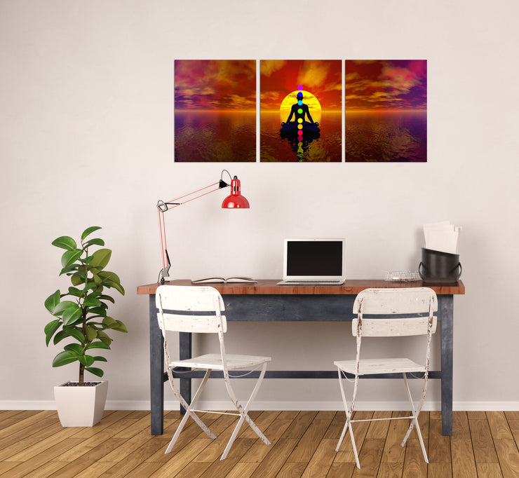 16x20 - Chakras Canvas Wall Art - Set Of 3