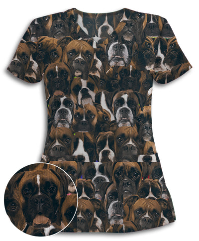 Boxers on Boxers on Boxers Athletic Scrub Top