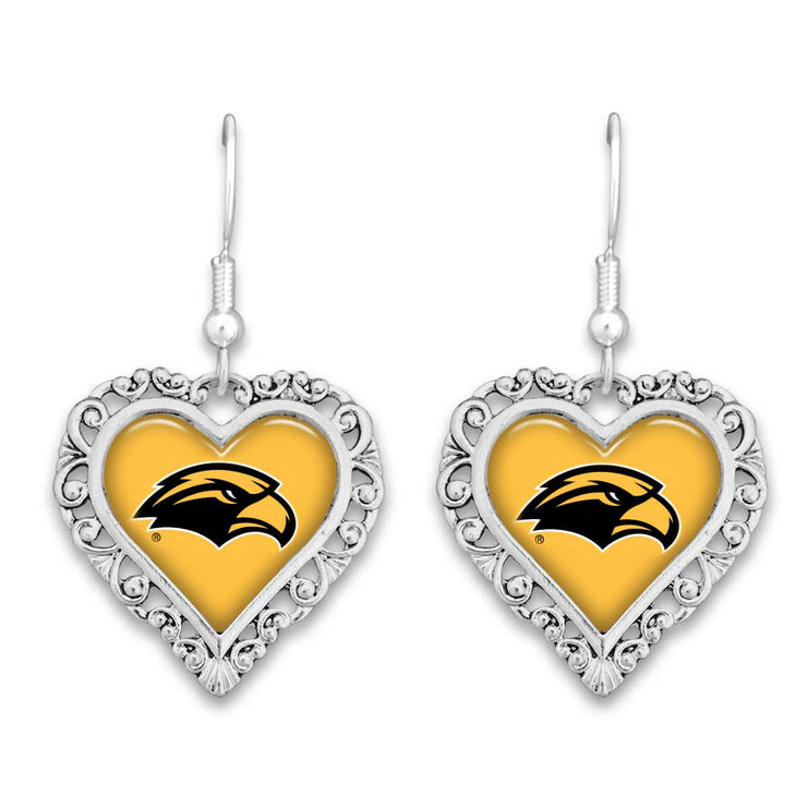 Southern Miss Golden Eagles Official Lace Trim Earrings