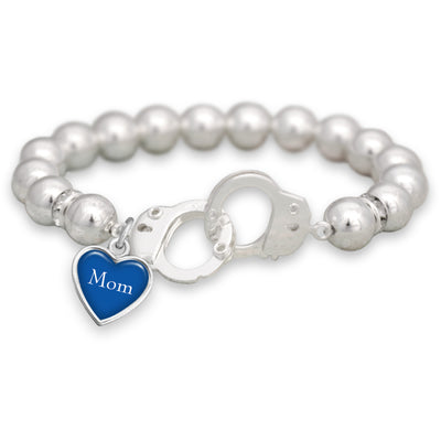 Customizable Heart Police Handcuff Bracelet