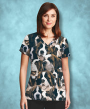 St. Bernards on St. Bernards on St. Bernards Athletic Scrub Top