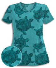 Turtle Island Athletic Scrub Top