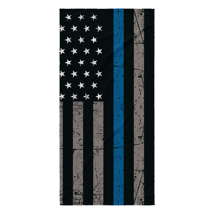 Thin Blue Line Beach Towel