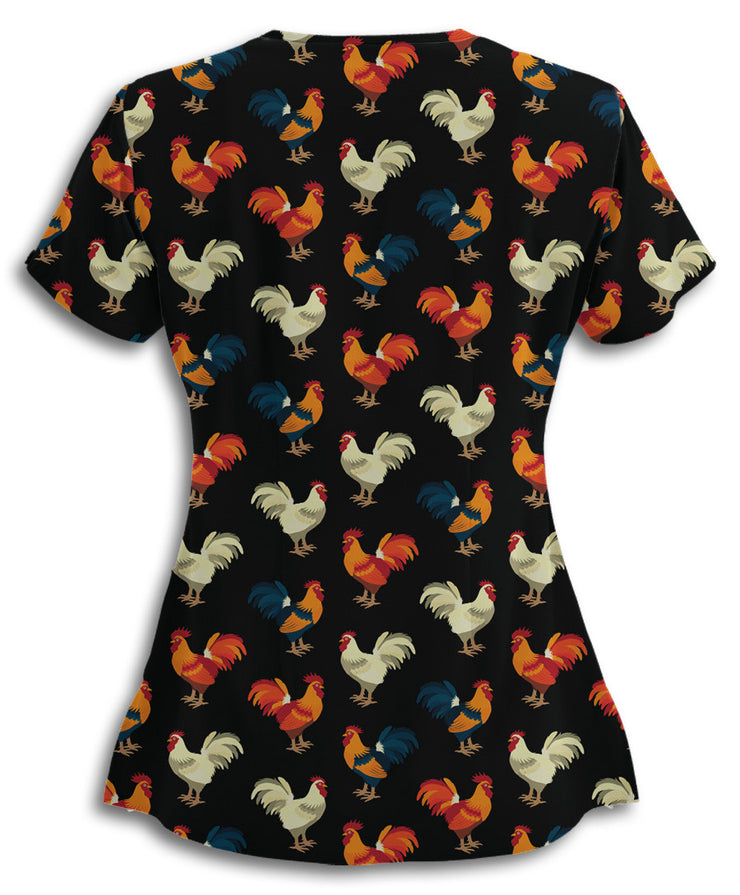 5aa61702a29 Chickens All Over This Scrub Top – Brave New Look