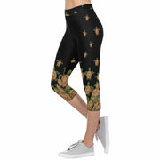 Turtle 3/4 Capri Leggings