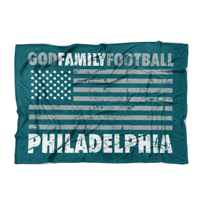 God, Family, Philadelphia Football Fleece Blanket