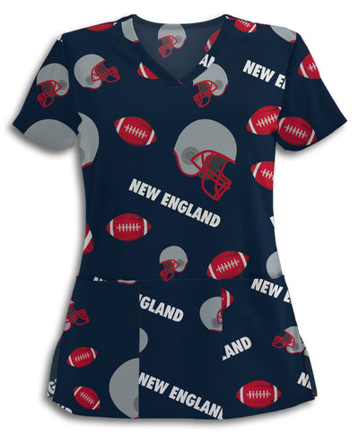 New England Football Lovers Scrub Top