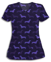Purple Doxies Scrub Top