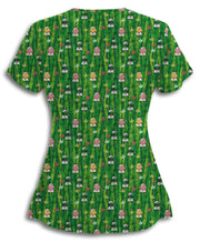 Green Grazing Cows Scrub Top