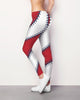 Anaheim/L.A. Baseball Stitch Leggings