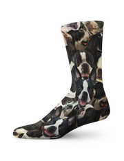 Bostons on Bostons on Boston Terriers Crew Socks