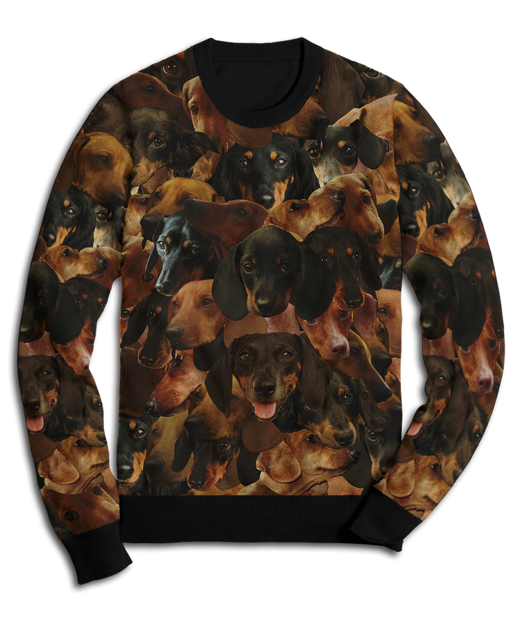 Dachs on Dachs on Dachshunds Fleece Sweatshirt