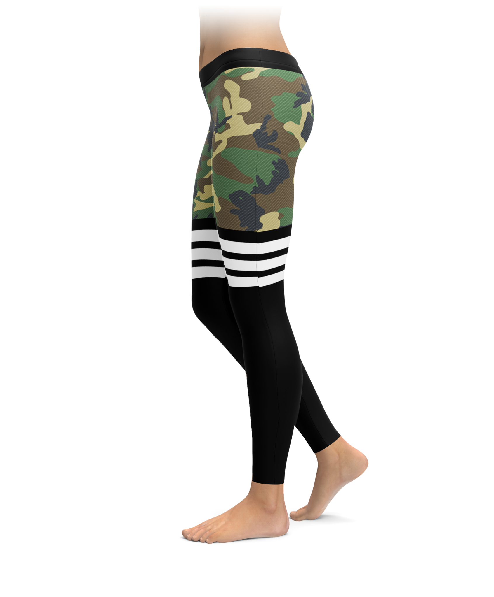 Thigh high styled camo leggings for Cama quinsay