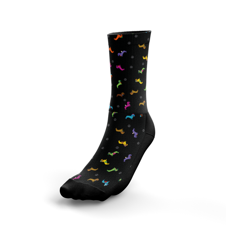 Colorful Dachshund Crew Socks