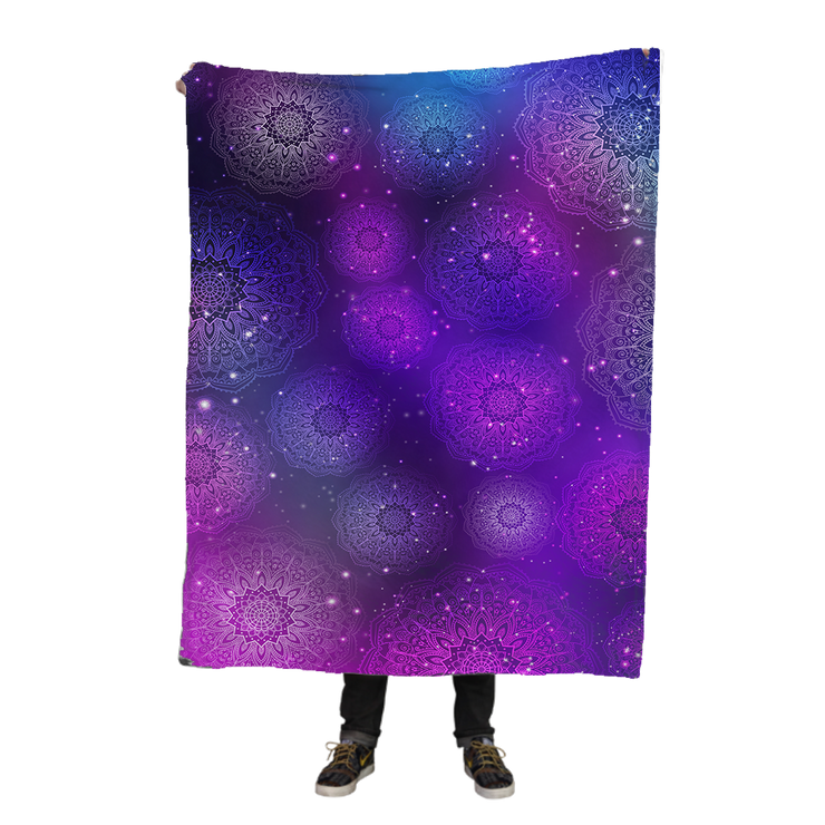 Space Mandalas Fleece Blanket