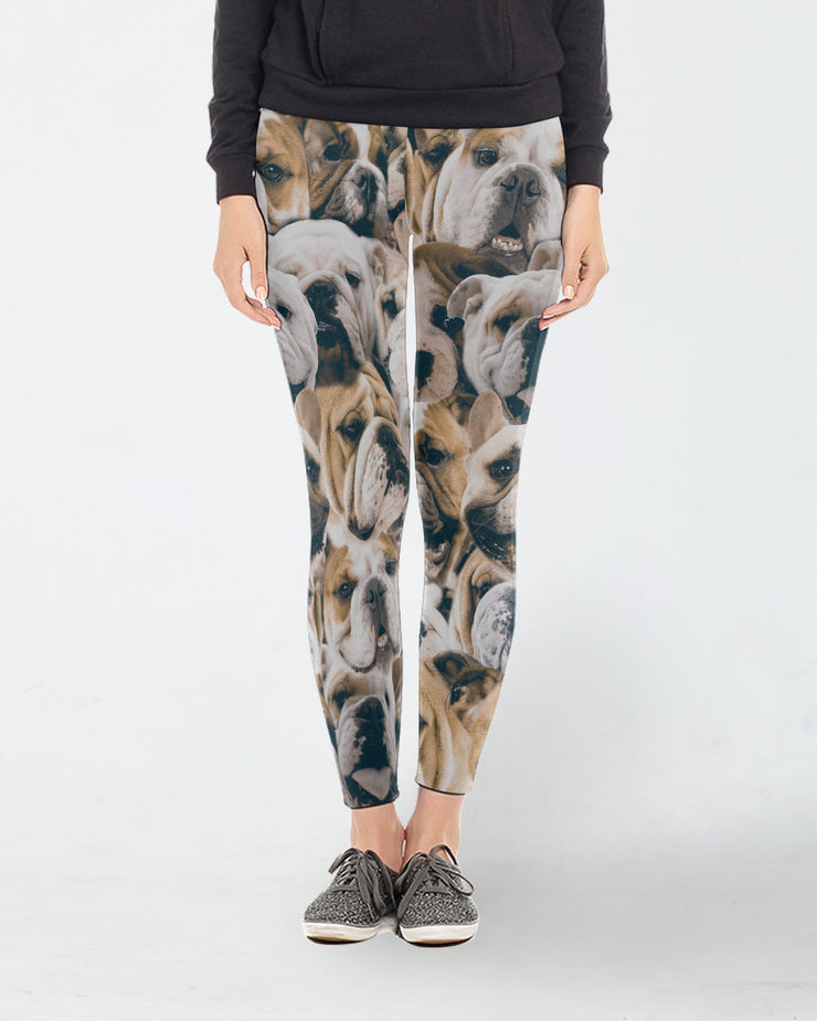 Bulldogs on Bulldogs on Bulldogs Leggings
