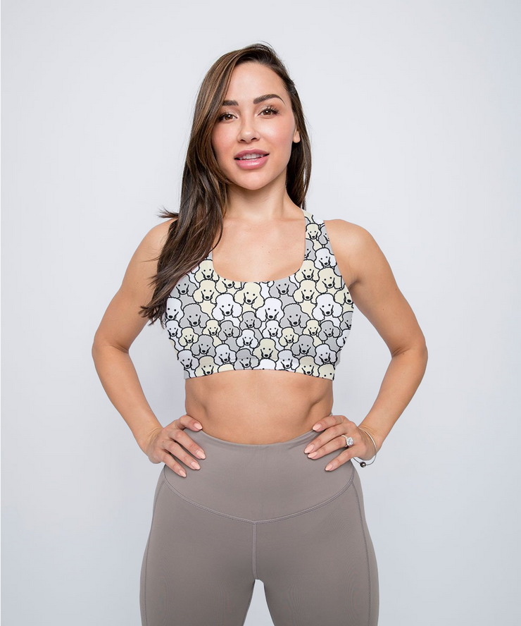 Lots of Poodles Sports Bra