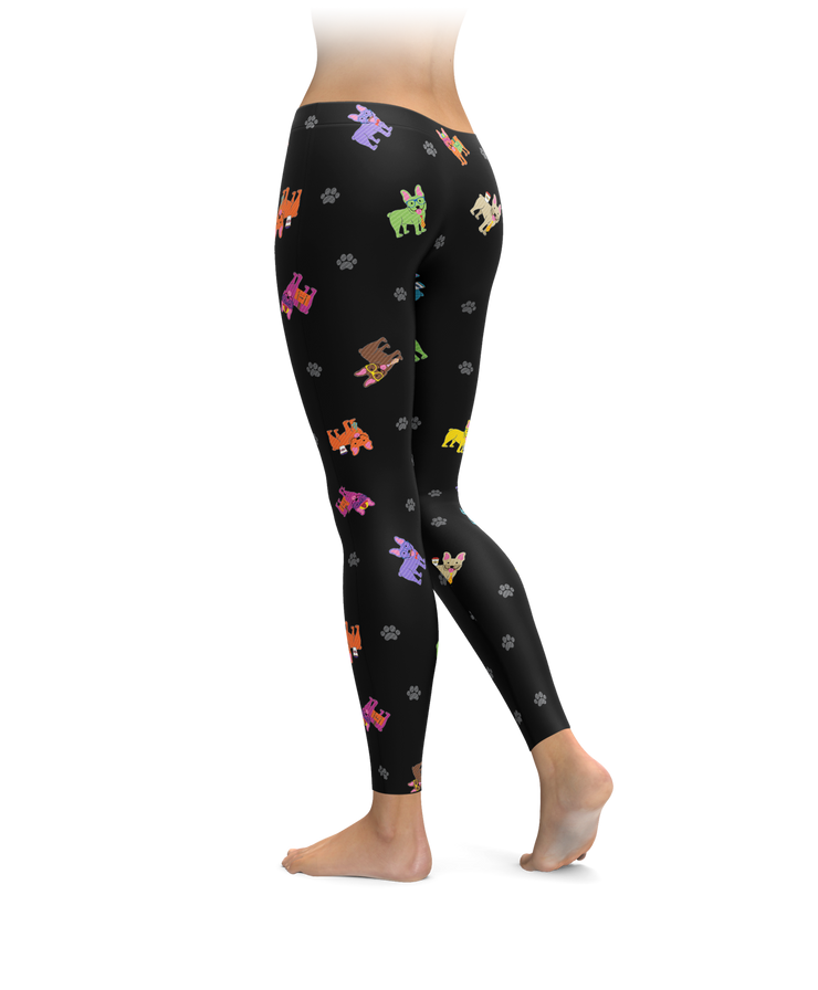 Colorful Frenchie Leggings