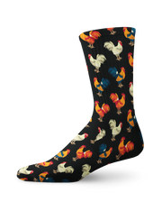 Chicken Crossing Crew Socks