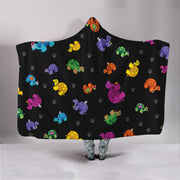 Colorful Turtle Hooded Blanket