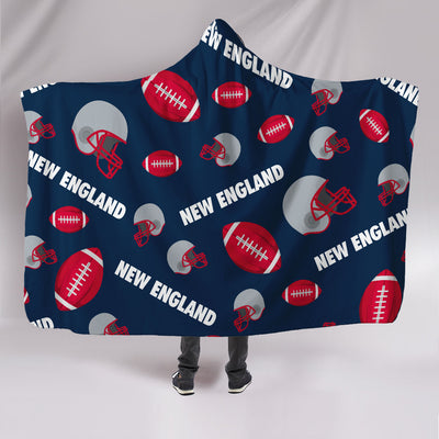 New England Football All-Over Print Hooded Blanket