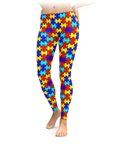 Autism Puzzle Leggings