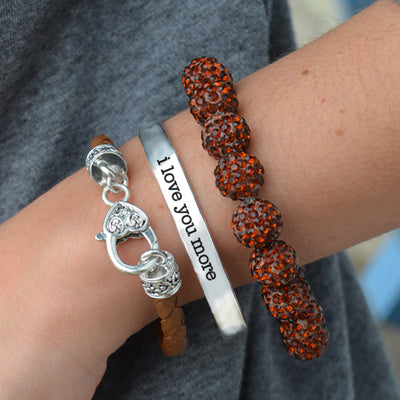 I Love You More Arm Party Bracelet Stack