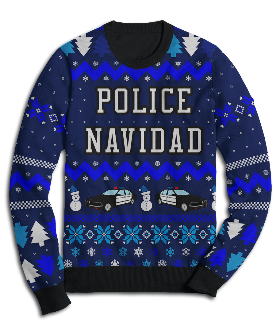 Police Navidad Holiday Fleece Sweatshirt