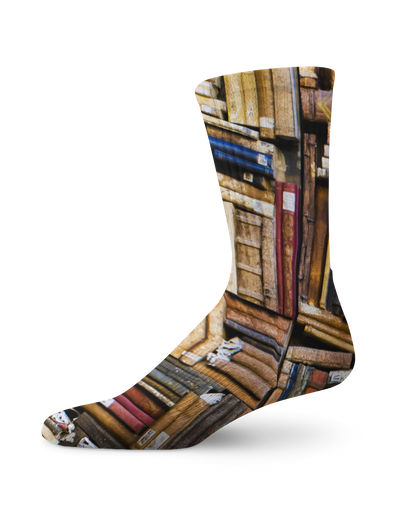 Old Books Crew Socks