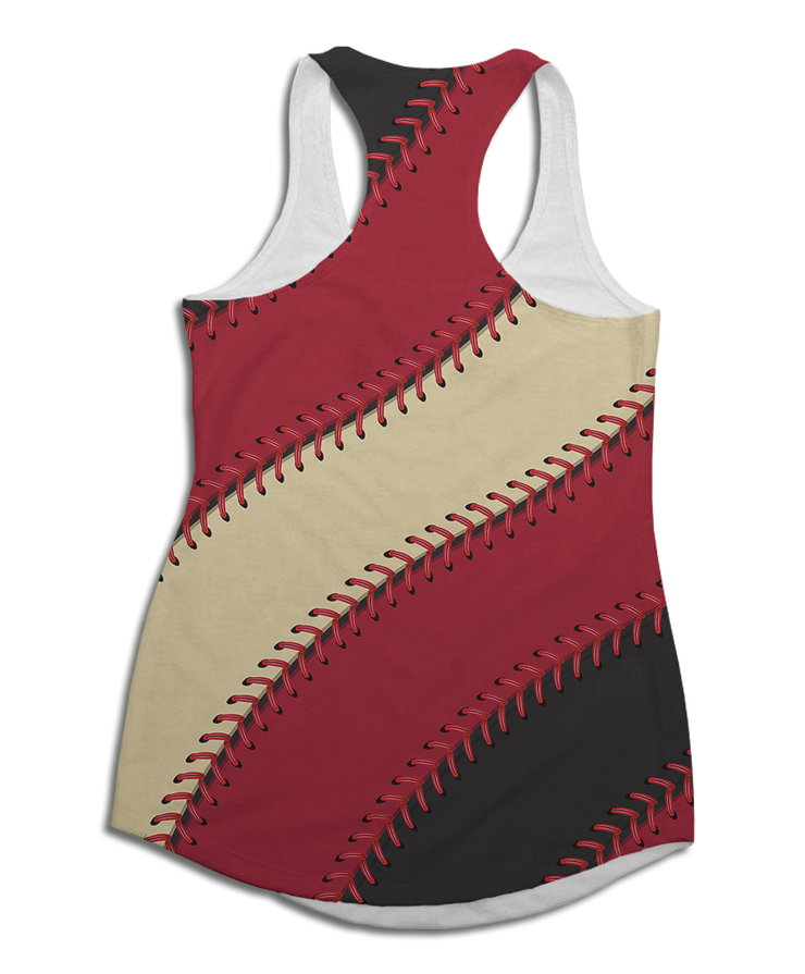 Arizona Baseball Stitches Racerback Tank Top