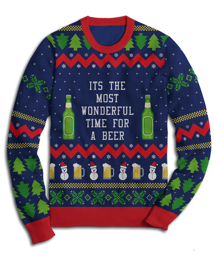 The Most Wonderful Time For A Beer Fleece Sweatshirt