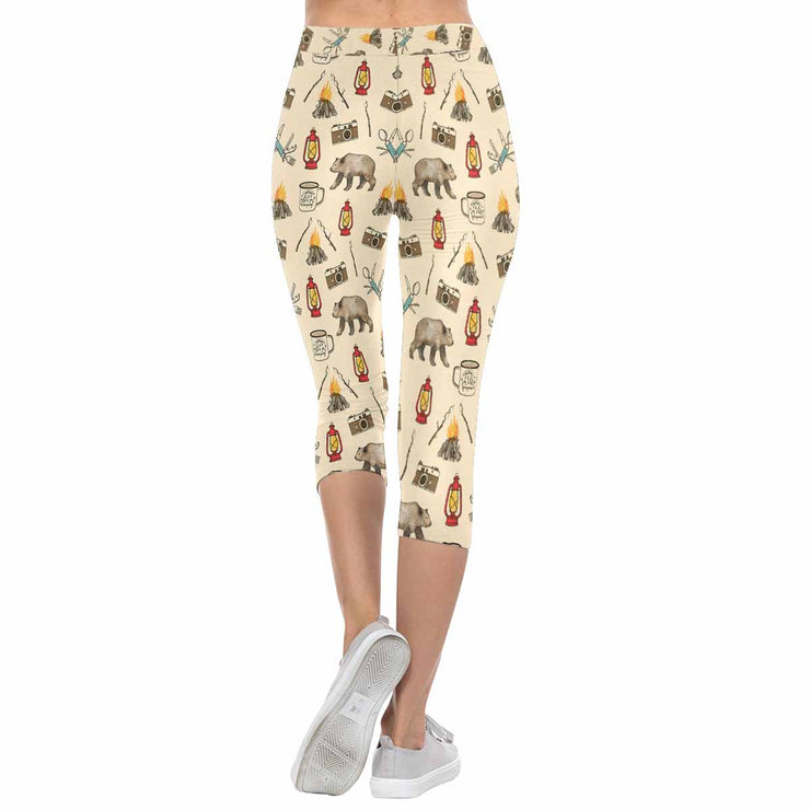 Let's Go Camping 3/4 Capri Leggings