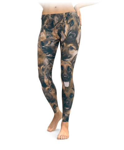 Shepherds on Shepherds on German Shepherds Leggings