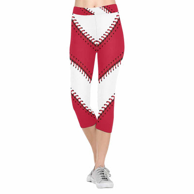 St. Louis Baseball Stitch 3/4 Capri Leggings