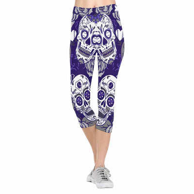 Colorado Sugar Skull 3/4 Capri Leggings
