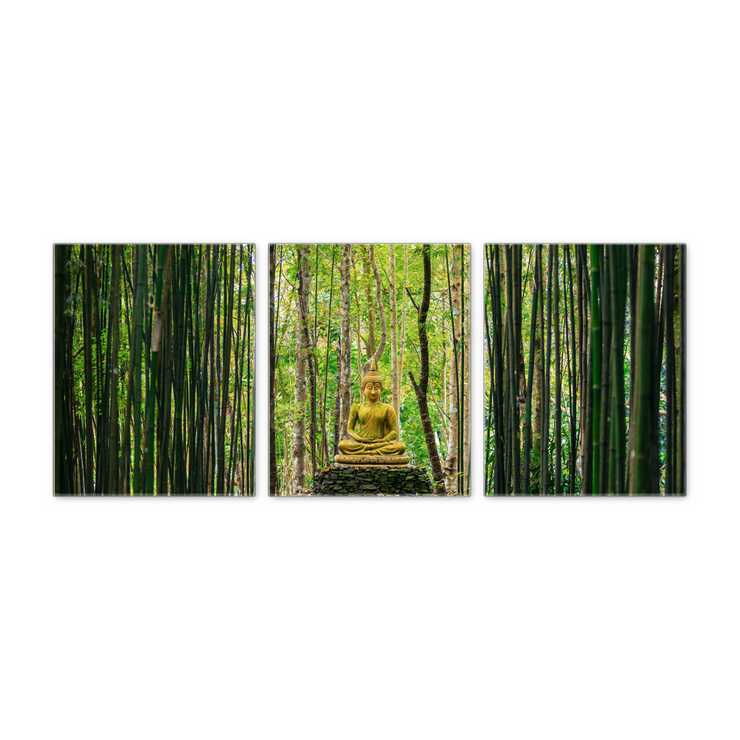 16x20 - Forest Buddha Canvas Wall Art - Set Of 3
