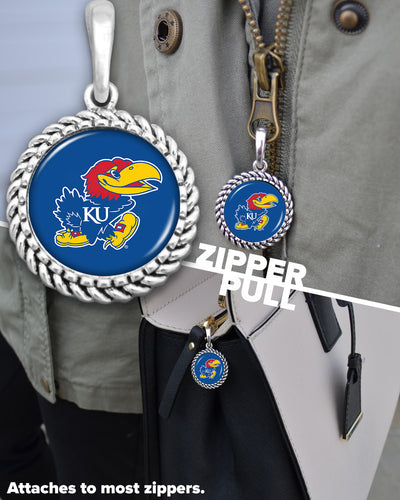 Kansas Jayhawks Easy-O Zipper Pull Charm