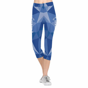 Feel Safe At Night, Sleep With A Cop (Just Not Mine) 3/4 Capri Leggings