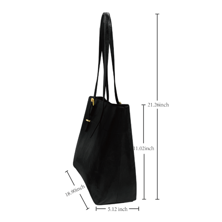 Bike Sketch Leather Tote Bag