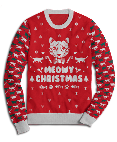 Meowy Christmas Fleece Sweatshirt